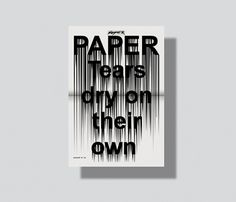 Bureau Mirko Borsche #own #their #on #dry #poster #paper #tears