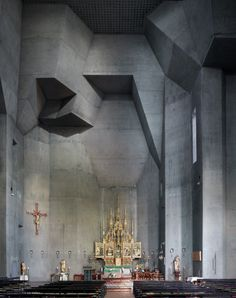MOOD, MATERIAL, USE OF COLOUR #church #concrete