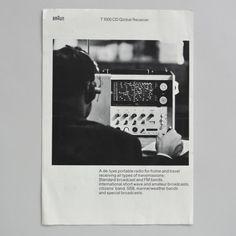 Braun T 1000 CD brochure 1967 via http://www.dasprogramm.org