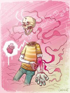 Grapheart: Illustration : drug #illustration #skull #drawing #draw #drug