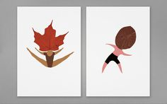 The Wallery mariadiamantes #leaf #print #design #graphic #dance #mariadiamantes #illustration #identity #posatl