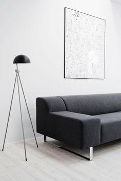 "Living room. Flat in ""Dolina Słońca"" by Loft Szczecin. Photos by Karolina Bąk. #livingroom #minimalist"