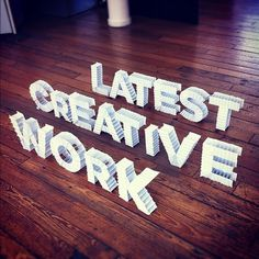 Crafted Art / 'Latest Creative Work', Pierre-Antoine Gilles & Mike Greer @EuroRSCGLondon #type #craft
