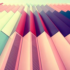The Softly Saturated Palettes of Munich's Architecture #geometric #colour