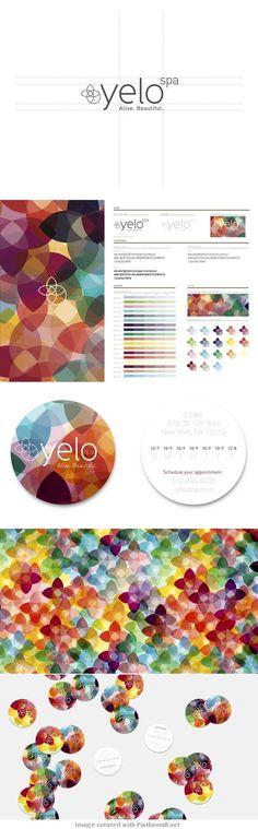 Yelo Spa | brand identity... #brand identity #colorful #logo