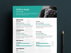 Free Photographer Resume Template with Attractive Look