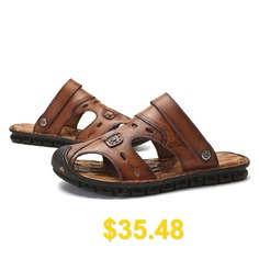 Fashion #Comfort #Men #Sandals #- #DEEP #BROWN