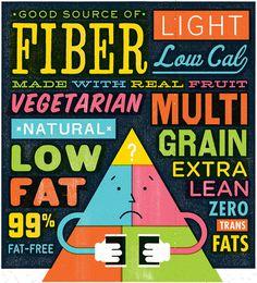 Food Pyramid by Mikey Burton #mikey #illustratoin #burton