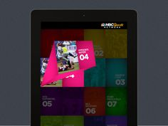 iPad UI for NBC Sports Network 5 #branding #nbc #ipad #interface #texture #grid #app #york #new