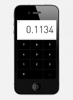 I love monday #interface #iphone #calculator #app #rechner