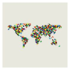 Inkdryer Creative. Daily Wallpaper Archive. #map #color #geography #triangles #bright #trippy #pathworld