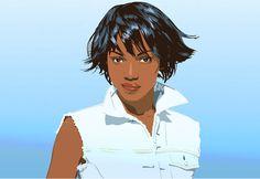 L'Oreal #portrait #ilustration #vector
