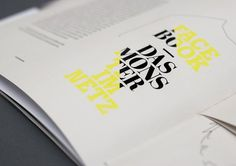 Typography, print #publication