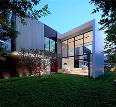 Square, Modern Style House in Bangkok - simple rectangular shapes house
