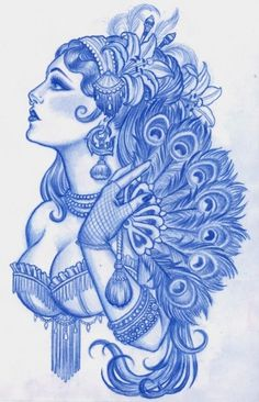 The Art of Amy Duncan | Ink Butter™ | Tattoo Aftercare #girl #feeathers #tattoo #duncan #peacock #amy