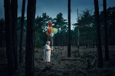 Beautiful Creative and Artistic Photographs by Spudsfirst - Skeletal moments #creative #photography #artistic #balloons