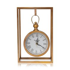 Gold Leaf Carriage Table Clock in Stand, 33cm x21cm x10.5cm