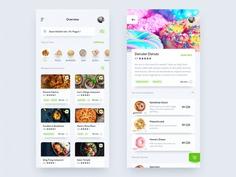 Online Food Order iOS Mobile App Screen UI
