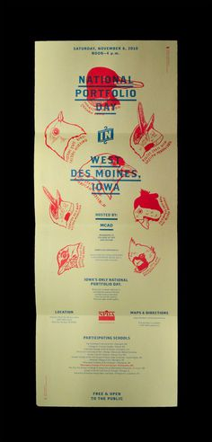 Iowa NPDA Poster/Mailer - Christopher Santoso #red #design #graphic #experimental #blue #native