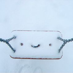 Happy Snowy Selfie by @tartarugafelizz #characterselfie ❄️☺️