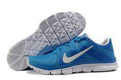 Nike Free Trainer 5.0 Training Shoe Blue White Mens #shoes