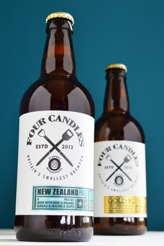 Four Candles Ale #packaging #typography