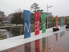 Russell Design | Selected Work : Environmental Graphic Design : Diamond Teague Pier #material