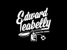 Qualitea Goods #script #spoon #goods #cursive #class #vintage #tea #type #hand #typography