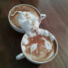 Awesome 3d Coffee Foam Art by Kazuki Yamamoto #art #coffee #kazuki yamamoto