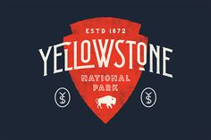 Yellowstone NP #type #typography #poster #handdrawn #handtype #illustration