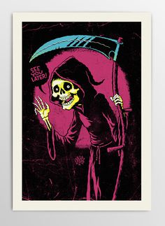 Image of Polite but still Grim Reaper #poster