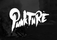 Punkture logo #urban #punk #lettering #black #hop #music #logo #hip