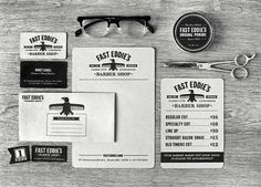 Fast Eddie's Barber Shop : Lovely Stationery . Curating the very best of stationery design #stationary