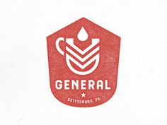 General Cafe #print #design #typography #type #logo #identity #drink #layout