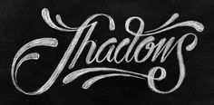 All sizes | Shadows | Flickr - Photo Sharing! #lettering #pencil #black