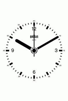 Dieter Rams Braun Clock #dieter rams #braun #clock #animated gif