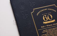 Crocodile 60th Anniversary A/W Catalog by Ken Lo #print #booklet #book