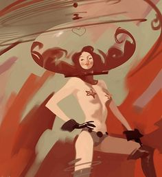 FFFFOUND! | Oren Haskins - Blog #illustration #oren haskins #space girl