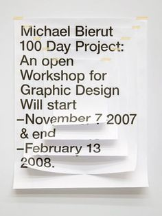 Five Years of 100 Days: Observatory: Design Observer #poster