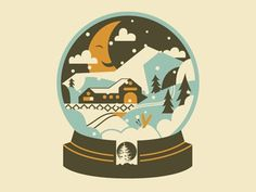 Snowglobe-011 #christmas #illustration