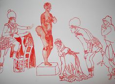 http://www.5piecesgallery.com/product/senzeni-marasela-covering-the-hottenton-venus-vii Image of Senzeni Marasela Covering The Hottenton V #africa #drawings #moma #art