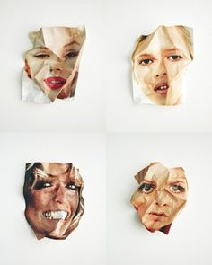 this isn't happiness™ Peteski #portrait #paper #faces #pop