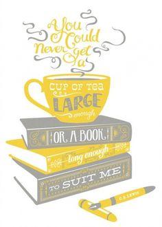C.S. Lewis Quote Poster #typography