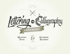 A battle between Martina Flor & Giuseppe Salerno #calligraphy #type #lettering