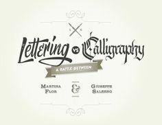 A battle between Martina Flor & Giuseppe Salerno #calligraphy #type #lettering