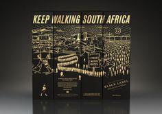 Johnnie Walker Commemorative Box on Behance #packaging #whiskey #liquor #johnnie walker #vlack label