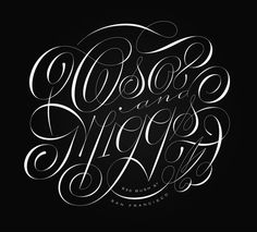 Erik Marinovich – Friends of Type – Oso and Miggs #calligraphy #script #lettering type