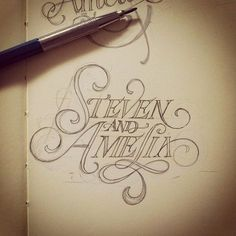 SerialThriller™ #script #hand #drawn #wedding #typography