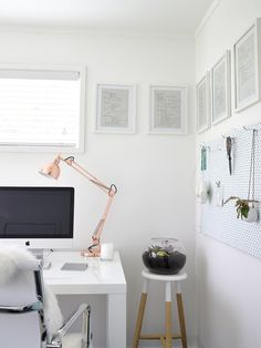 Made From Scratch's Your Home and Garden Home Tour #office #home #desk #minimal #workspace