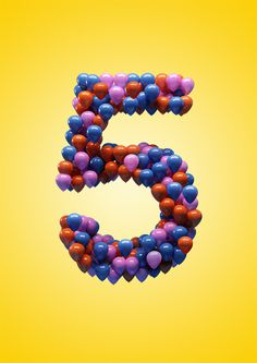 Helios City 5th birthday on Behance #illustration #lettering #birthday #3d